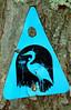 Blue Heron Trail marker.