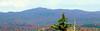 Pillsbury Ridge - looking NW from summit ledges.
