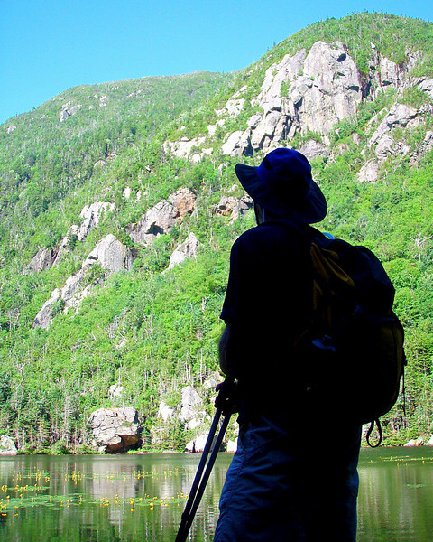 John contemplates Wildcats across Upper Carter Lake.
