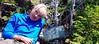 Foss Pk. - Odd sign, odd hiker.