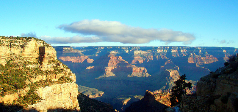 The North Rim, from the top of Bright Angel Trail.