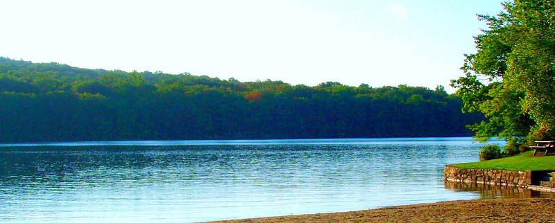 We begin - Wallum Lake Park.