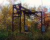 Top of the old Copple Crown Ski Area's T-Bar lift.