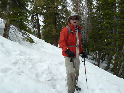 This hiker was descending as we started up the steeper part.
