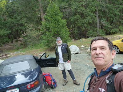 Trailhead parking.  Wagga & Steve