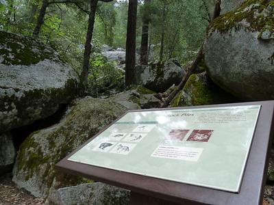 """Rock Piles"" sign. Sierra Point access begins here."