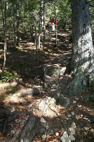Very steep trail.