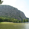 """Another view of Kineo mountain from the Mount Kineo Golf Course. This part of the course is very near the causeway and the shoreline.  <a href=""""http://www.mooseheadlakegolf.com/"""">http://www.mooseheadlakegolf.com/</a>."""