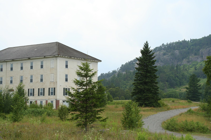 """Last remaining Mount Kineo House building, The Dormitory.   Original picture of the grand hotel.   <br /> <a href=""""http://www.mooseheadlake.org/vacation-blog/wp-content/uploads/2012/01/MK_1936.jpg"""">http://www.mooseheadlake.org/vacation-blog/wp-content/uploads/2012/01/MK_1936.jpg</a>    <br /> Historical Link 1: <a href=""""http://www.mooseheadlake.org/vacation-blog/2012/01/the-mt-kineo-house/"""">http://www.mooseheadlake.org/vacation-blog/2012/01/the-mt-kineo-house/</a>     <br /> Historical Link 2: <a href=""""http://baharris.org/historicpolandspring/MtKineo/MtKineo.htm"""">http://baharris.org/historicpolandspring/MtKineo/MtKineo.htm</a>"""