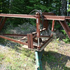 Home make grader used to grade the roads on Kineo island.