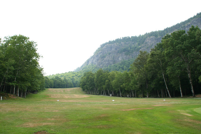 "View of Kineo mountain from the Mount Kineo Golf Course. <a href=""http://www.mooseheadlakegolf.com/"">http://www.mooseheadlakegolf.com/</a>. While I'm not a golfer it did appears to me the course was well maintained"
