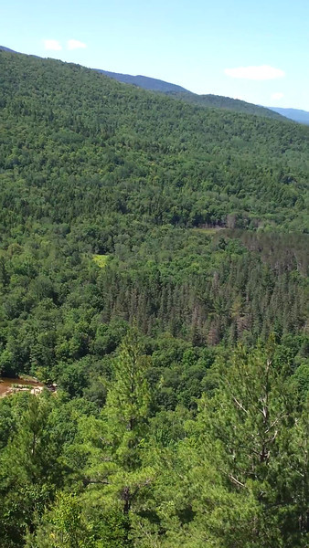 """Video from the view point at The Roost in Evans Notch ME.<br /> More details see:<br /> <a href=""""http://www.mainetrailfinder.com/trail/white-mountain-national-forest-the-roost/"""">http://www.mainetrailfinder.com/trail/white-mountain-national-forest-the-roost/</a>"""