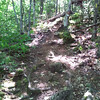 Heading up the north trail to The Roost.