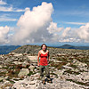 Melissa on the summit plateau, at last!