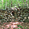 A stone wall, near the Table Rock spur on the Milton Gowdey Trail