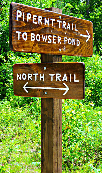 One of many new trail signs installed by the SPNHF