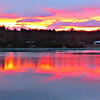 Later that day - sunset over Danforth Pond