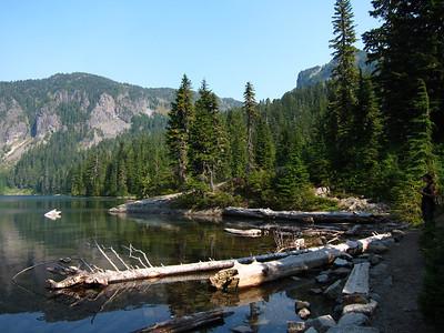 Mowich Lake, where the trip began