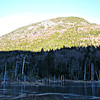 From NW end of Lower Greeley Pond - looking north to west spur of Kancamagus Mtn.