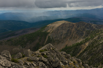 A squall passing, from the summit of Windy Peak