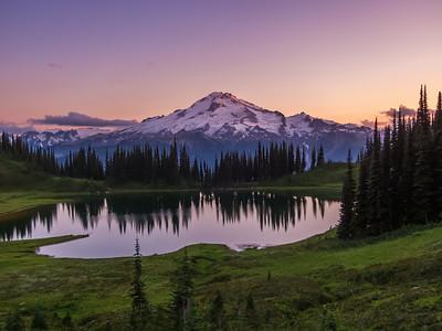 Sunset on Image Lake and Glacier Peak