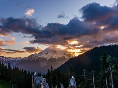Glacier Peak at Sunset