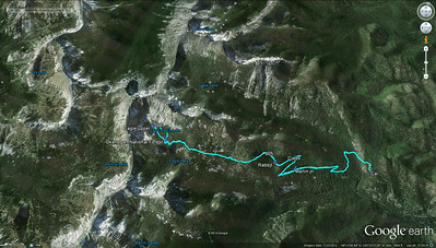 GPS track of the hike to Upper Eagle Lake