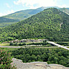 From Artists Bluff: SE over Eagle Cliff to Mt. Lafayette.