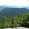 From the boulder just off the top of the Mahoosuc Arm climb, Mt. Mahoosuc, which borders the west side of the Notch.