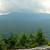 Storm clouds gather around Mt. Adams.