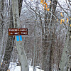 Where the P.N. Trail takes a sharp turn to the SE, making for the summit.