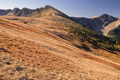 Ridge separating Corral Lake from McCall Gulch