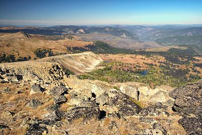 Peeking into Canada from the summit of Sheep Mtn, 8,274'