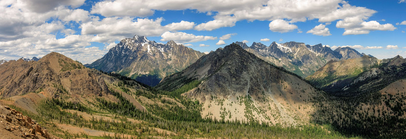 Stuart Range from Iron Peak