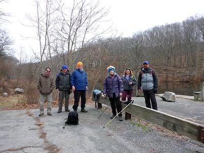 The group at Saxton Falls (Jim, Frank, Teun, Gely, Pat, Bijoy) - 1/17/16