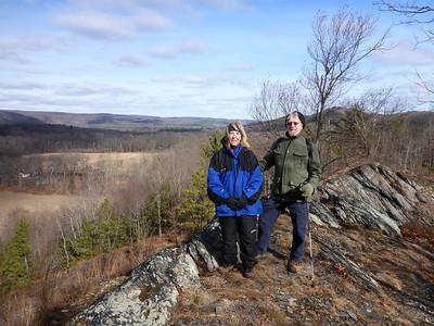 Lois and Thom on the Lenape Ridge Trail - 1/20/16