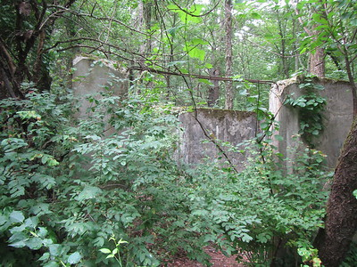 WW II aircraft communications building relic - near junction of Stonymeade and Annursnac.