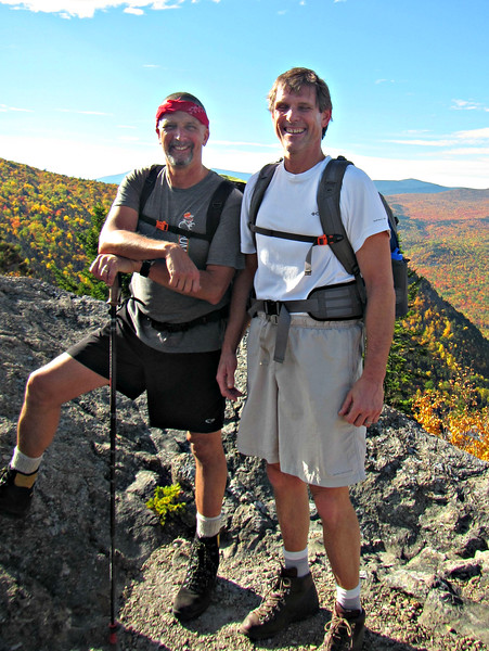 Karl and Dave - happy to be standing atop Peak of the Ridges.