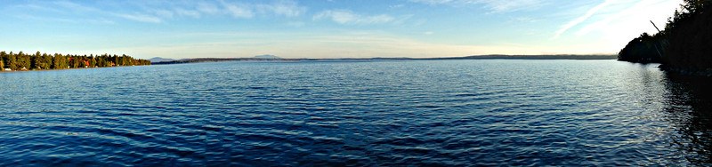 Schoodic Lake. looking north to Katahdin, left of center.
