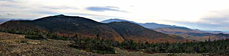 Looking south over The Traveler and Center Ridge to Katahdin.
