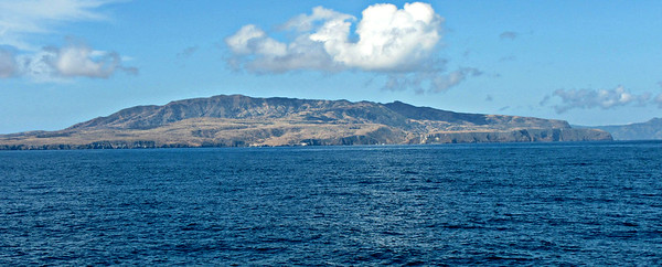 Approaching Scorpion Anchorage, Santa Cruz Island.