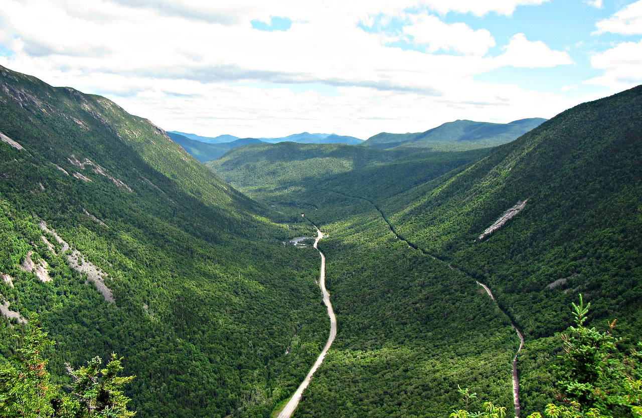 The view from Mt. Willard. Chocorua in the far middle.