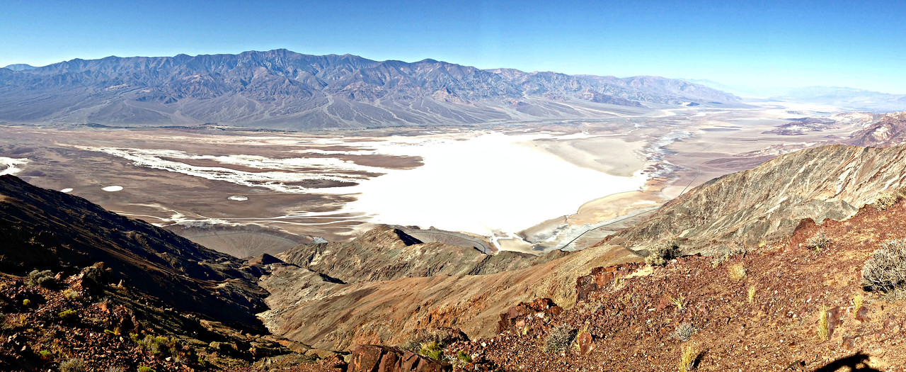 Badwater Basin and Panamint Range from Dante's View.