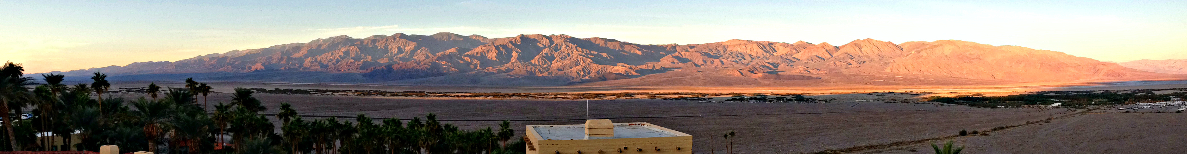 Early morning looking west to the Panamint Mts. from our Inn at Furnace Point.