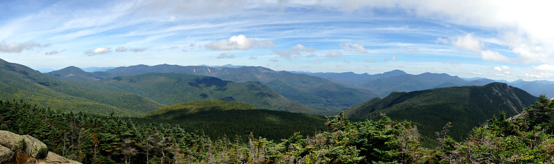 Looking east from Liberty - Owl's Head and the Pemi.