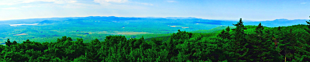 Panoramic view from the Fire Tower, from Province Lake to the Ossipees.