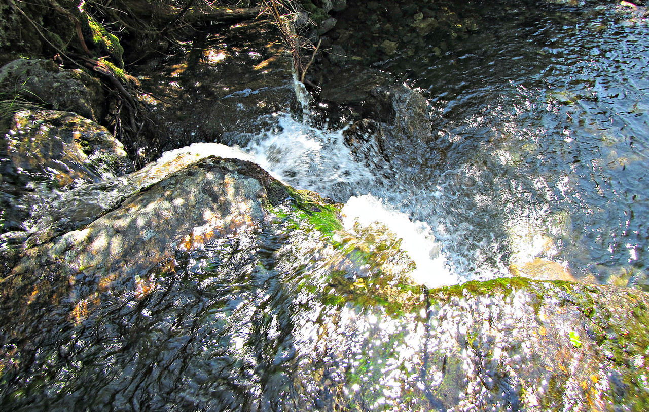 Vesper Falls, the top of which Raymond Path crosses.