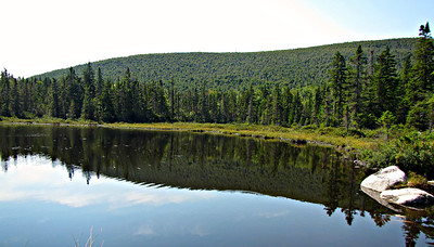 Looking back at Unknown Pond Mtn. from Kilback Pond.