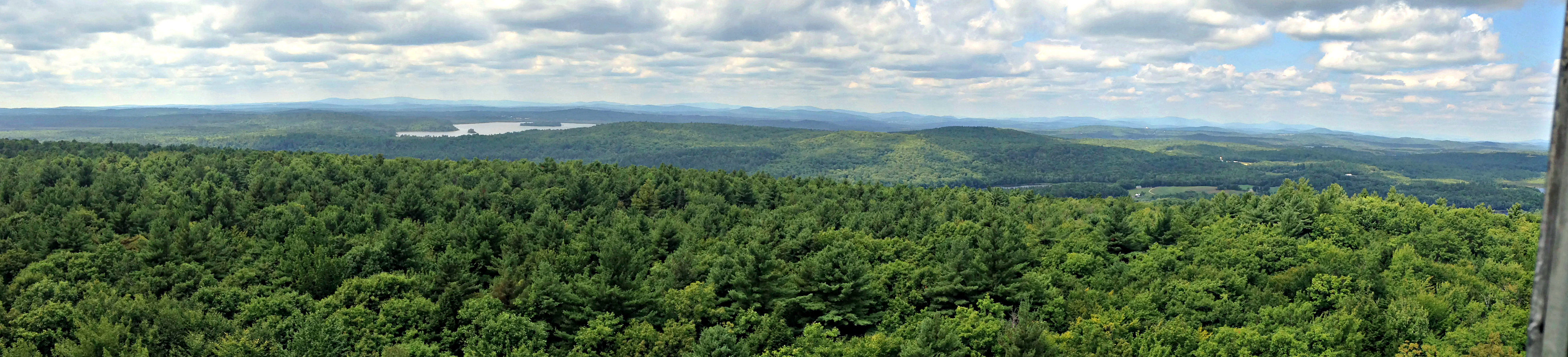 Looking west from Mt. Pisgah Firetower:  Lale Androscoggin left of center.