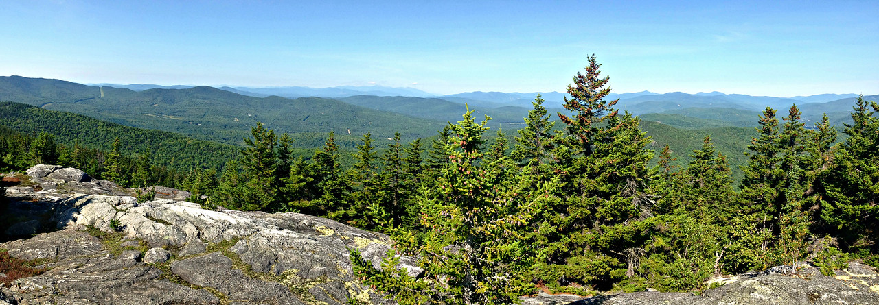 Looking west from Mt. Zircon summit - Presidentials and Mahoosuc Range in distance.